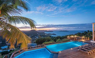 Eden Rock Villa Rental Villa Night Pool 4