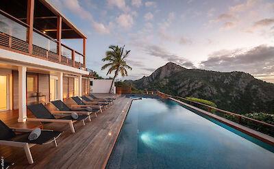 Eden Rock Villa Rental Villa Night Pool 2