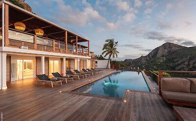 Eden Rock Villa Rental Villa Night Pool