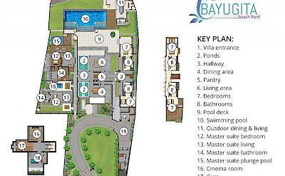 Bayu Gita Beach Front Floorplan
