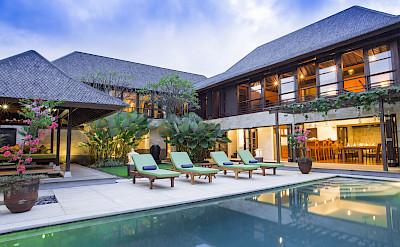 Villa Poolside At Night