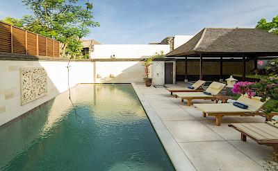 Villa Pool And Deckchairs